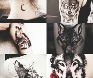 wolf and tatoos image