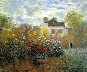 art, garden, and monet image