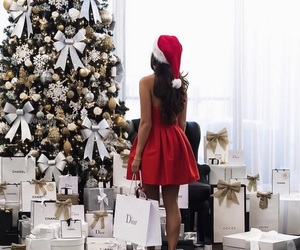 christmas, christmas tree, and dior image