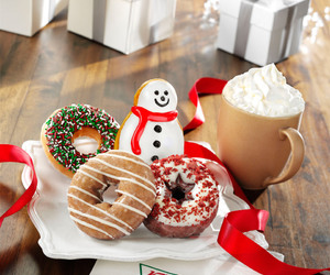 food, christmas, and donuts image
