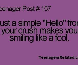 crush, hello, and smile image