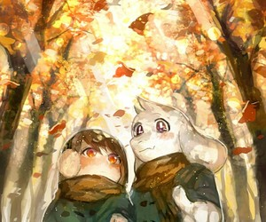 undertale, asriel dreemurr, and chara image