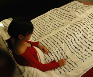 book, bed, and read image