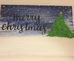 art, christmas card, and merry christmas image