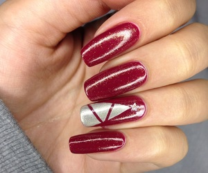 christmas, gold, and nails image