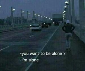 alone, sad, and dark image