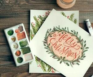 art, christmas, and christmas card image
