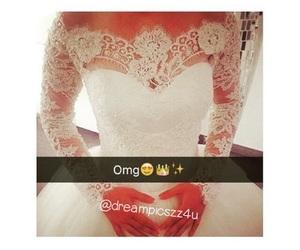 dress, goals, and wedding dress image