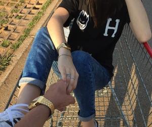 couple, adidas, and boyfriend image