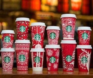 christmas, starbucks, and drink image