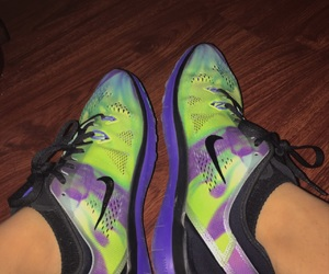 colorful, galaxy, and running shoes image