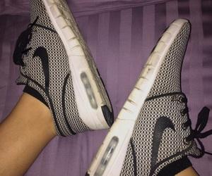 black and white, running shoes, and nike janoski image