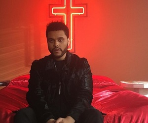 the weeknd, starboy, and red image
