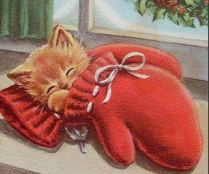 christmas card, holiday, and merry christmas image