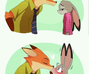 zootopia, bunny, and fox image