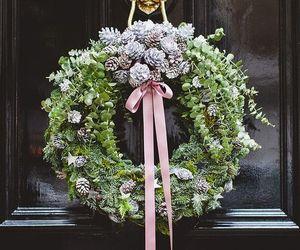 christmas, door, and winter image