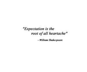 quote, expectations, and heartache image