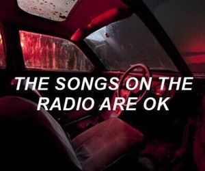 quotes, red, and car radio image