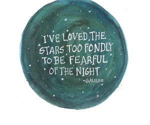 quote, stars, and galileo image