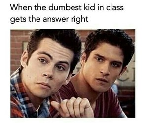 funny, teen wolf, and school image
