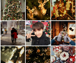 christmas, jin, and k-pop image