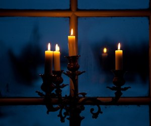 candles, candlestick, and night image