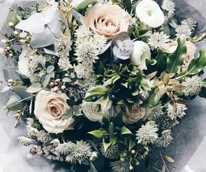 bag, flowers, and food image