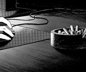 beauty, manga, and monochrome image