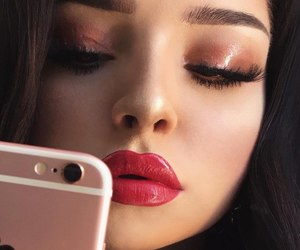 makeup, beauty, and iphone image