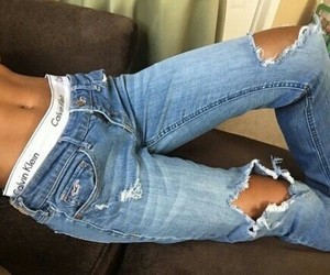 jeans blue and calvinklain image