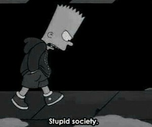 simpsons, bart, and society image