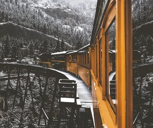 train, travel, and winter image