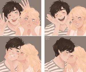 art, annabeth chase, and percy jackson image