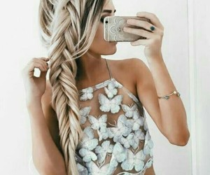 braids, girl, and outfits image