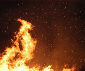 aesthetic, burn, and fire image