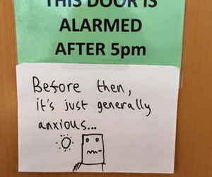 doors, feelings, and funny image