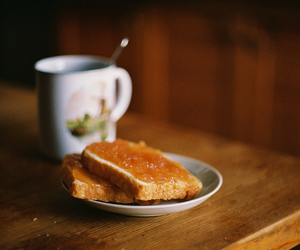 food, tea, and breakfast image