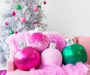 pink, christmas, and pillow image
