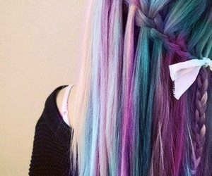 blonde, dye, and blue image