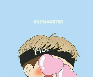 bts, rap monster, and wallpaper image