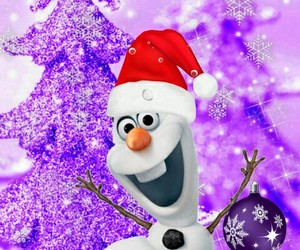 wallpaers and olaf cute christmas image