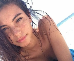beach, style, and selfie image