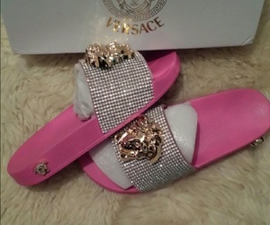 pink, Versace, and shoes image