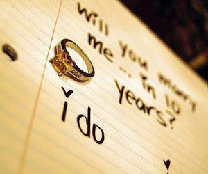 love, marry, and ring image