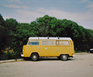 yellow, vintage, and car image