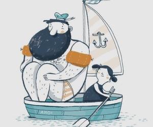 art, drawing, and sailor image