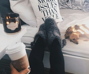 winter, coffee, and cozy image