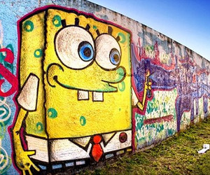 graffiti, spongebob, and sponge bob image