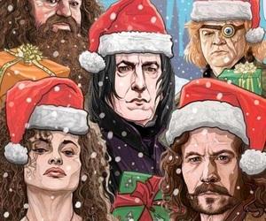 harry potter, christmas, and severus snape image