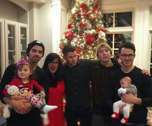 jonas, christmas, and family image